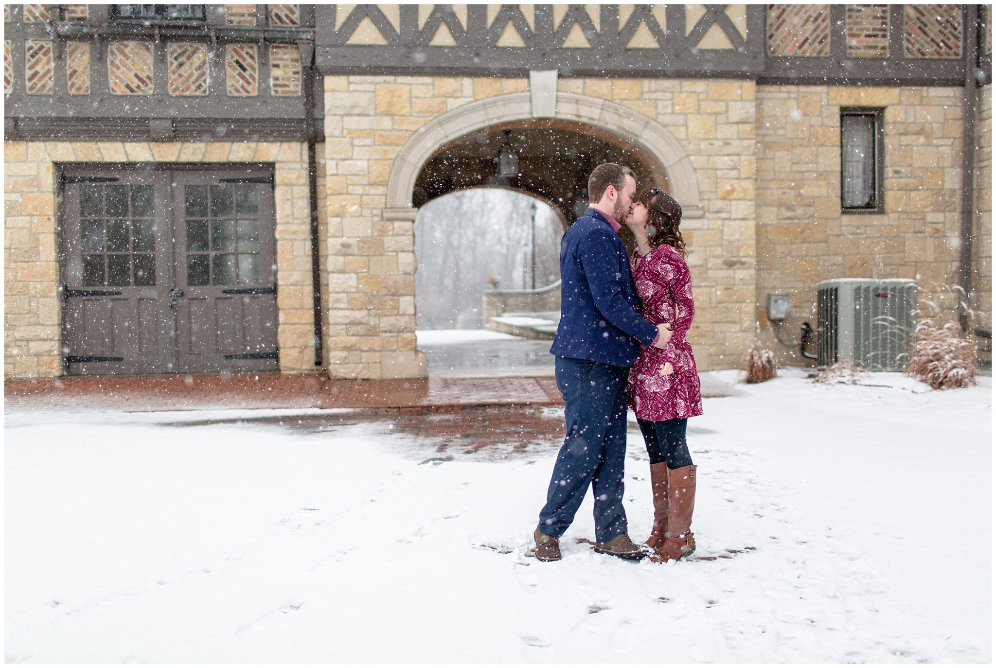 Ewing Manor Snowy Engagement Session Normal Illinois_0059