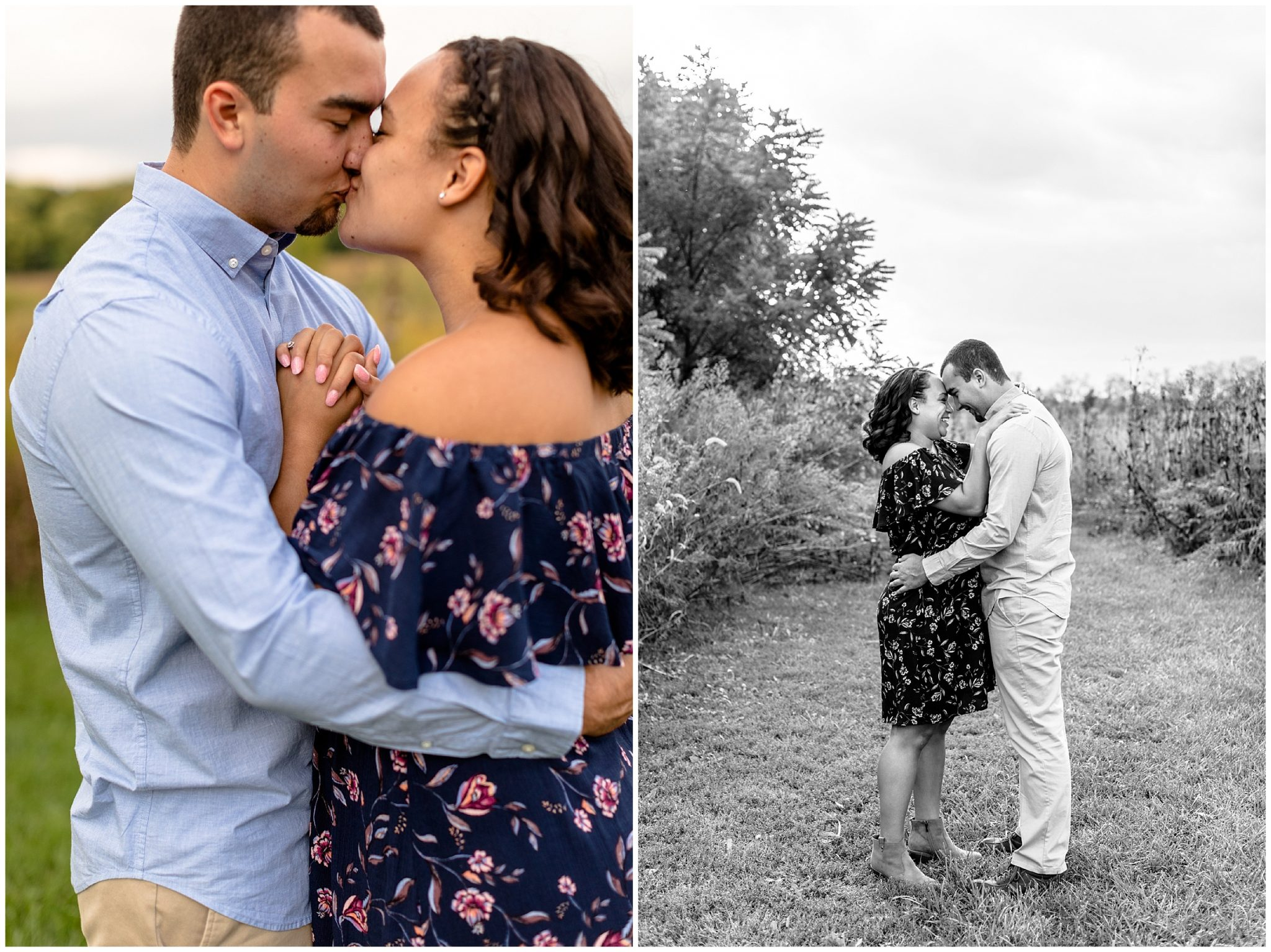 Golden Hour Tall Grass Engagment Session Illinois_0270