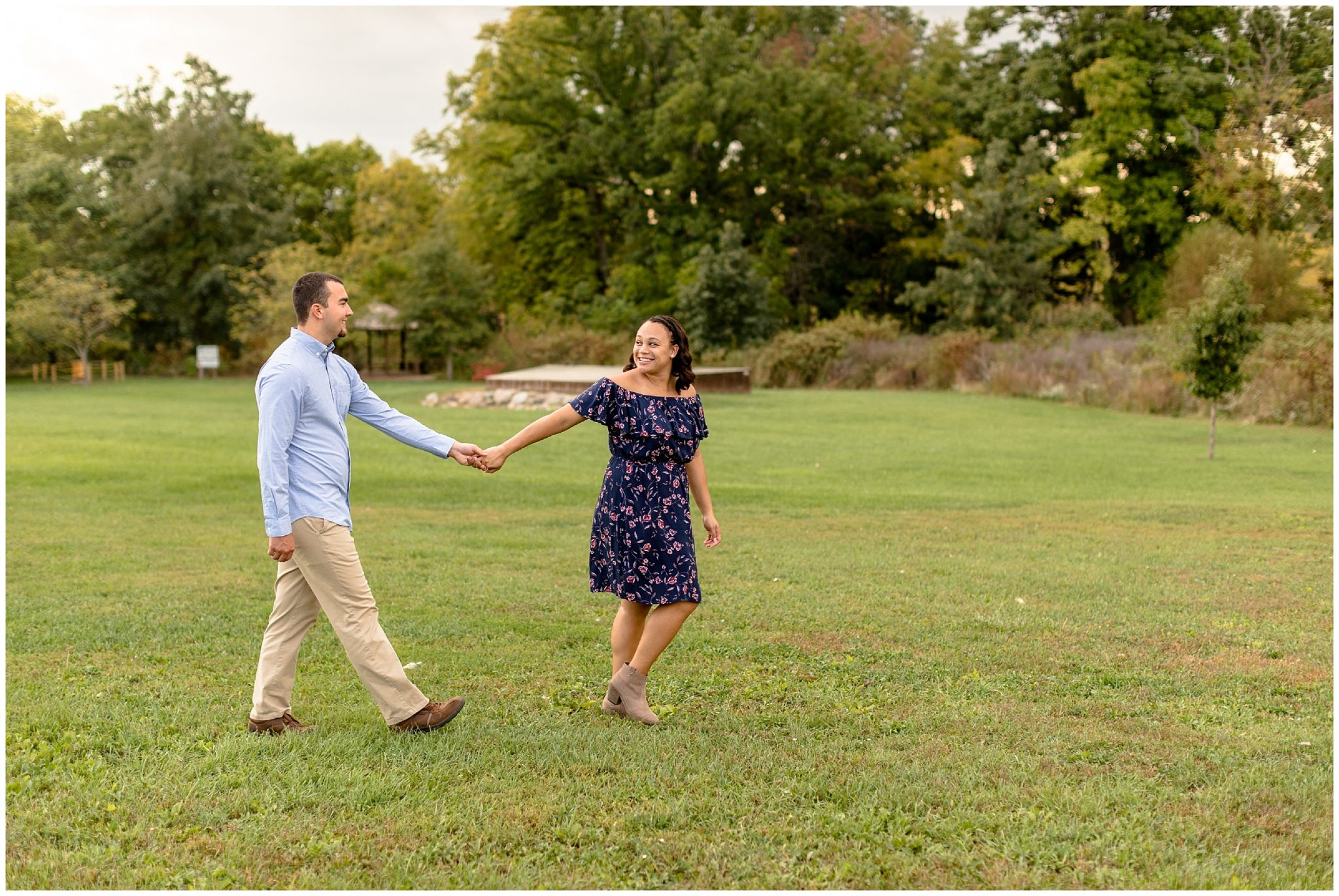 Golden Hour Tall Grass Engagment Session Illinois_0271